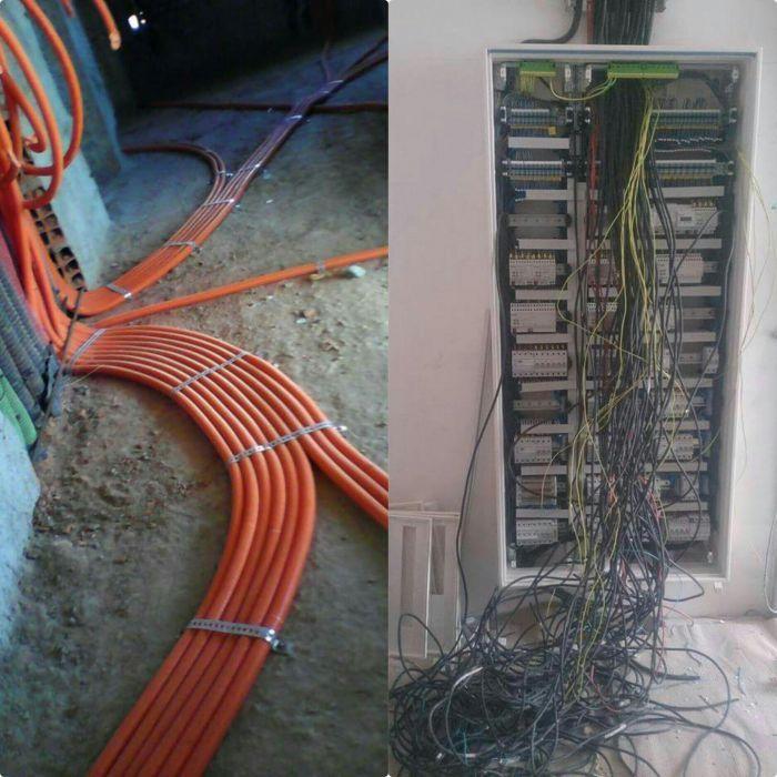 Eléctricista de construção civil