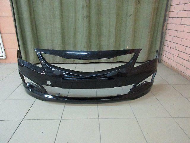 Передний бампер на Hyundai Solaris 14/15