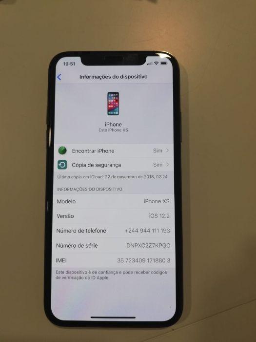 IPhone XS de 64gb, preto.