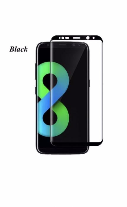 Folie sticla CURBATA 3D Samsung S8 ,S8+ Note 8, S9 , S9 Plus Tempered