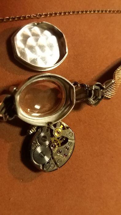 ceas aur alb 14k +8 diamante Bulova Bucuresti - imagine 7