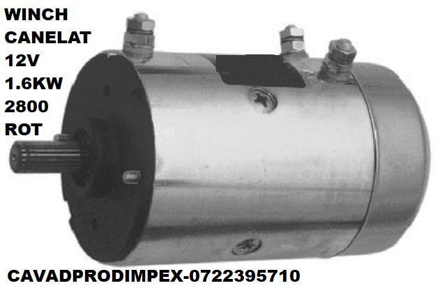 Motor WINCH 12V, 1,6KW sens ACW-CW,ax canelat Bucuresti - imagine 1
