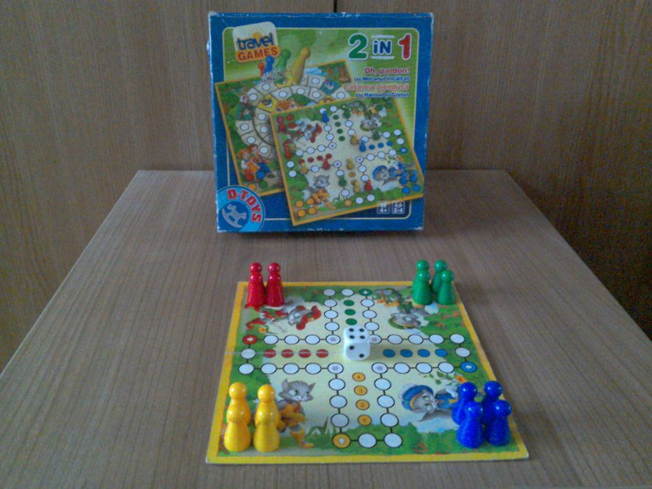 Joc cu pioni: 2 în 1: cu Motanul Încălțat și Hansel și Gretel: D-toys