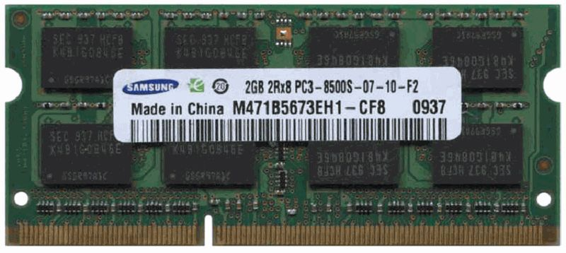 Memorie RAM Laptop 2Gb DDR3 1066Mhz PC3-8500S Notebook Netbook SODIMM