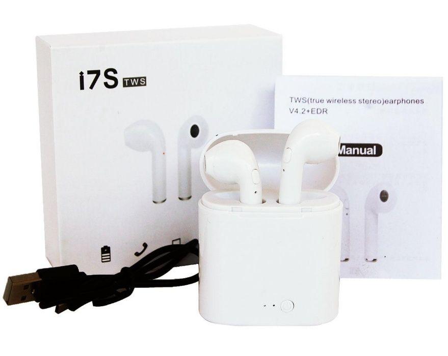 Fone de Ouvido I7S Tws wireless (Branco) bluetooth bt 4.2 sem fio