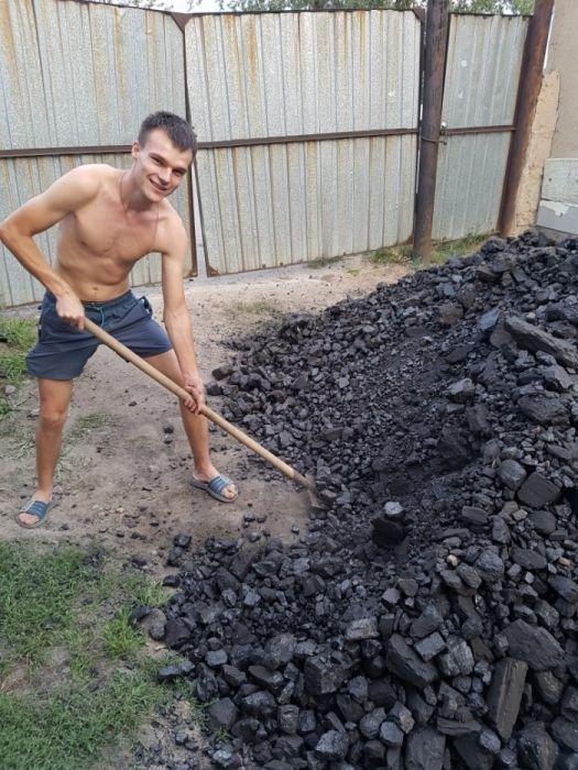 Уголь Шубаркуль отборный Доставка Зил сомосвал по городу и области