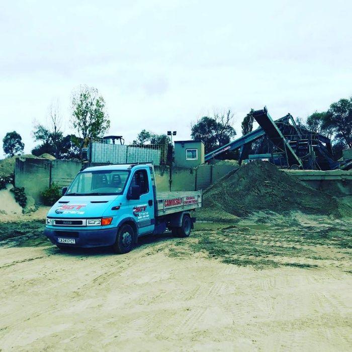 Доставка на инертни материали Пясък Чакъл Сипица Бетон Замазка Земя