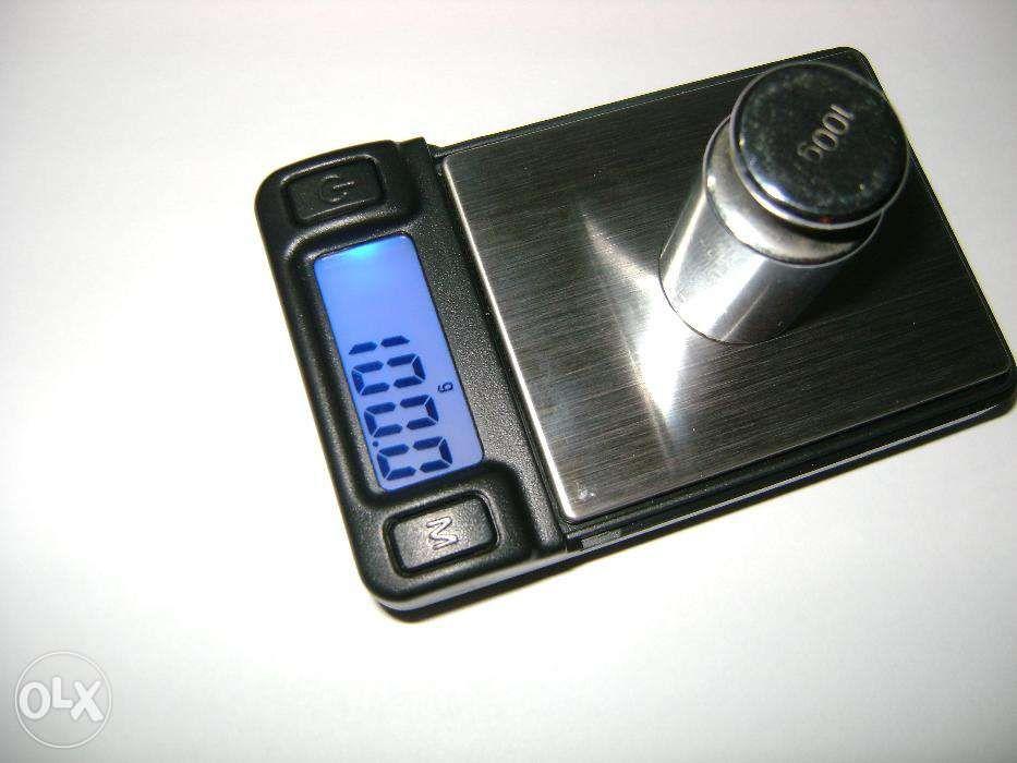 Cantar electronic de mare precizie cu platou inox - 100g x 0.01g