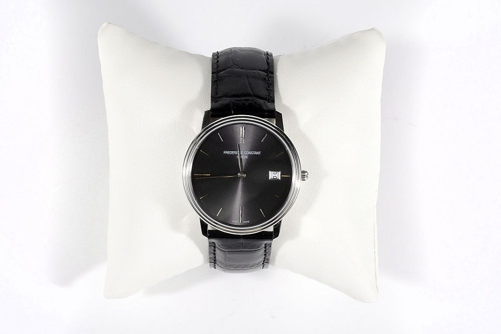 Мъжки часовник Frederique Constant Slim Line Black Sunray