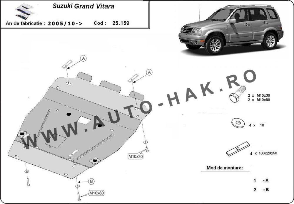 Scut motor metalic Suzuki Grand Vitara 2005-prezent otel 2mm