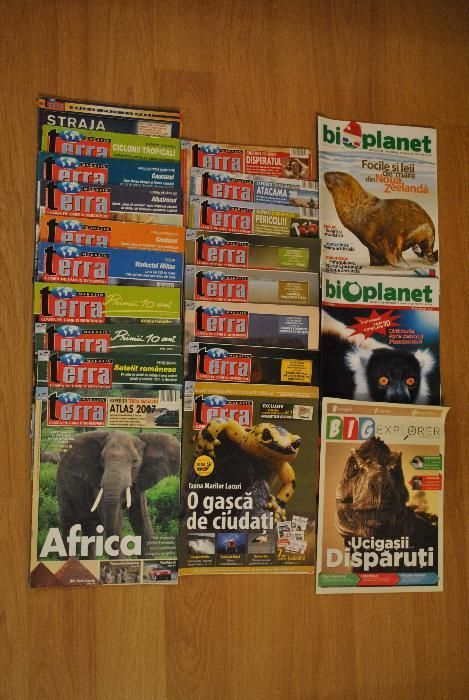 Reviste si DVD-uri National Geographic, Terra, Bioplanet, Big Explorer