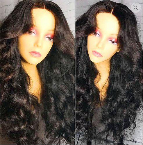 Peruca de cabelo humano, 150% Densidade, Onda Solta