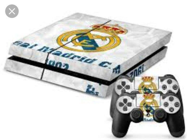 Capa (skin vynil) de PS4 (Real Madrid)