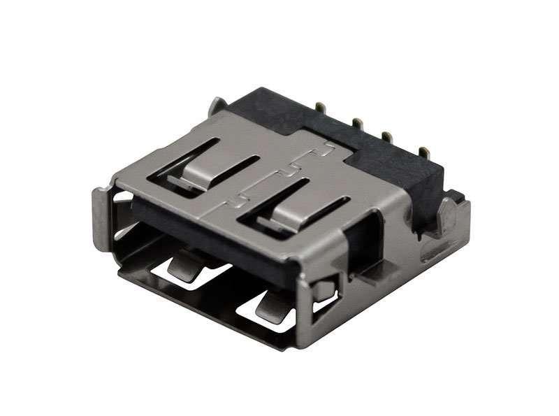 Lot 5x Mufa USB Samsung JACK-USB4P/1C,TIN,BLK,Angle-OFFSET
