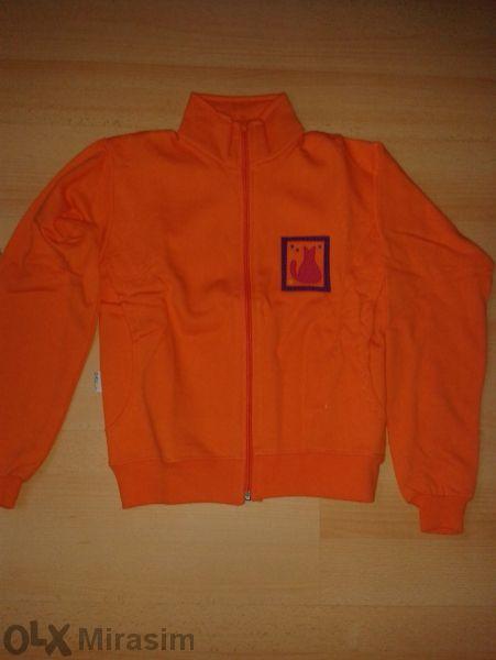 Нова! Блуза с цип - оранжево