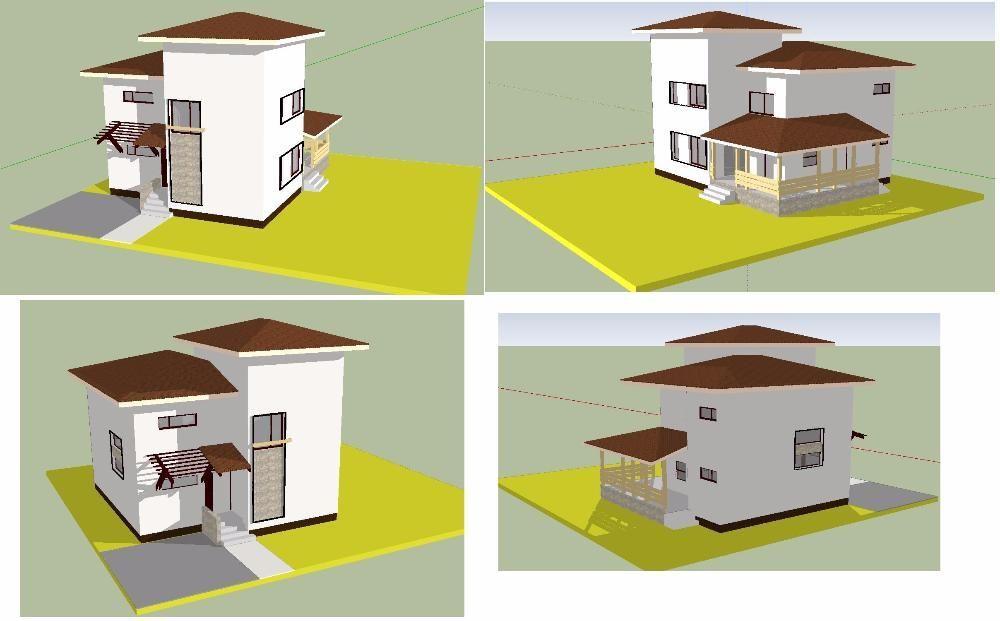 Proiect zona urbana P+1E+M partiala