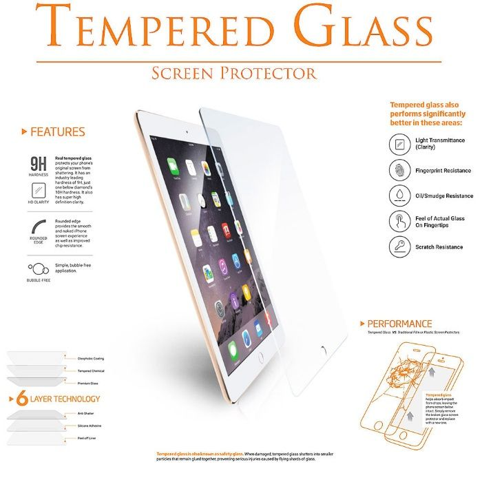 Folii sticla iPad Mini, Ipad Pro, iPad Air 9H Tempered GLASS
