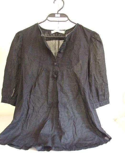 See by Chloe оригинална дизайнерска дамска черна блуза туника