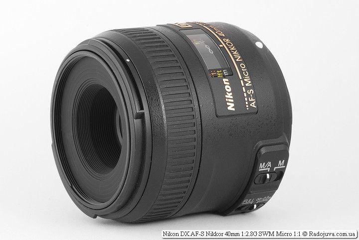 объектив Nikon DX AF-S Micro Nikkor 40mm 1:2.8G SWM