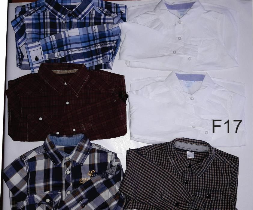 Set camasi maneca lunga, baiat, 2-4 ani, F17