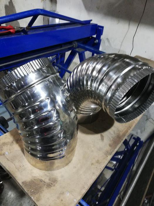 Coturi inox fum sudate reglabile incretite si ventilatie 110-330 mm