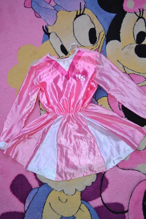 Costum de carnaval halloween serbare rochie pink ranger sassy