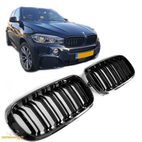 Grile Centrale Duble BMW X5 X6 F15 F16 Negru Lucios Piano Black