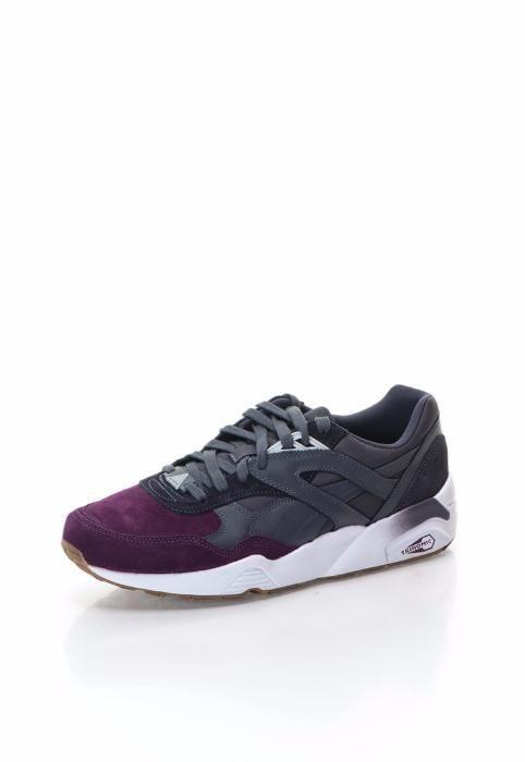 adidas PUMA barbat marimea 43 - pantofi sport violet cu gri inchis NOI