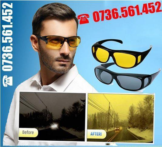 Set 2 perechi ochelari de zi si de noapte condus HD Vision auto masina