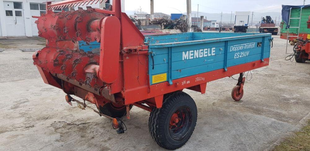 Remorca pentru transport si imprastiat gunoi de grajd MENGELE Hunedoara - imagine 2