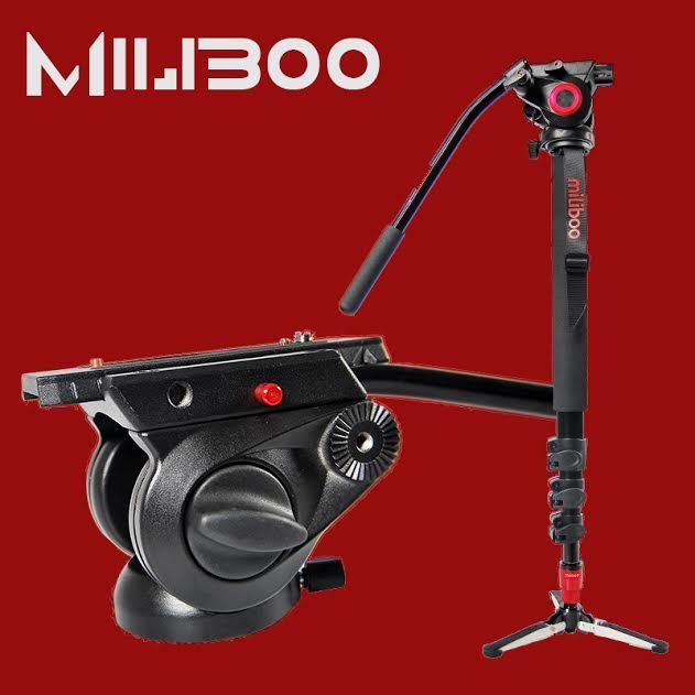 Monopied aluminiu MILIBOO MTT705A + MYT801 Hydraulic cap video