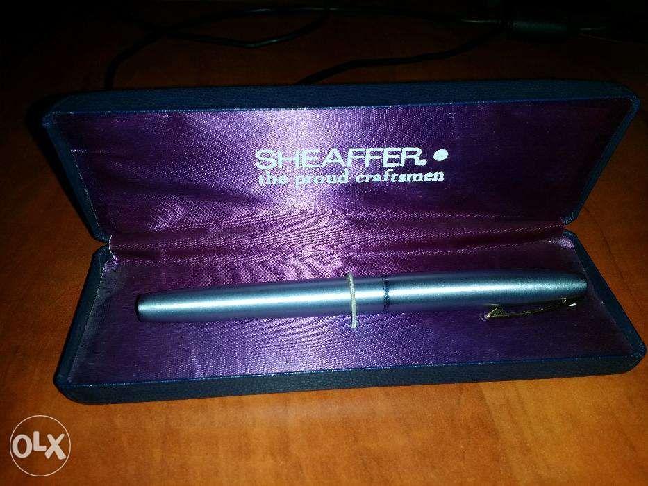 Stilou Sheaffer penita aur 14k, argintiu metalic