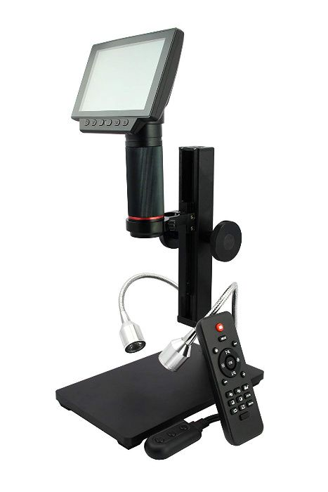 Метален дигитален микроскоп с 5 инча дисплей 1080P HDMI/AV гр. Варна - image 3
