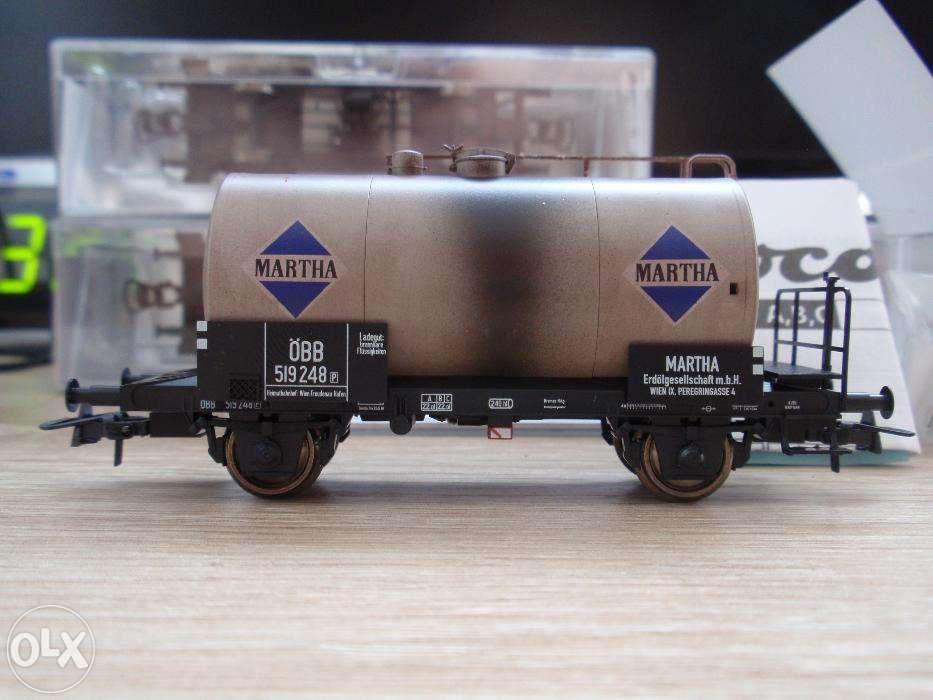 6 vagoane cisterna Roco - weathering din fabrica - H0 (16mm)