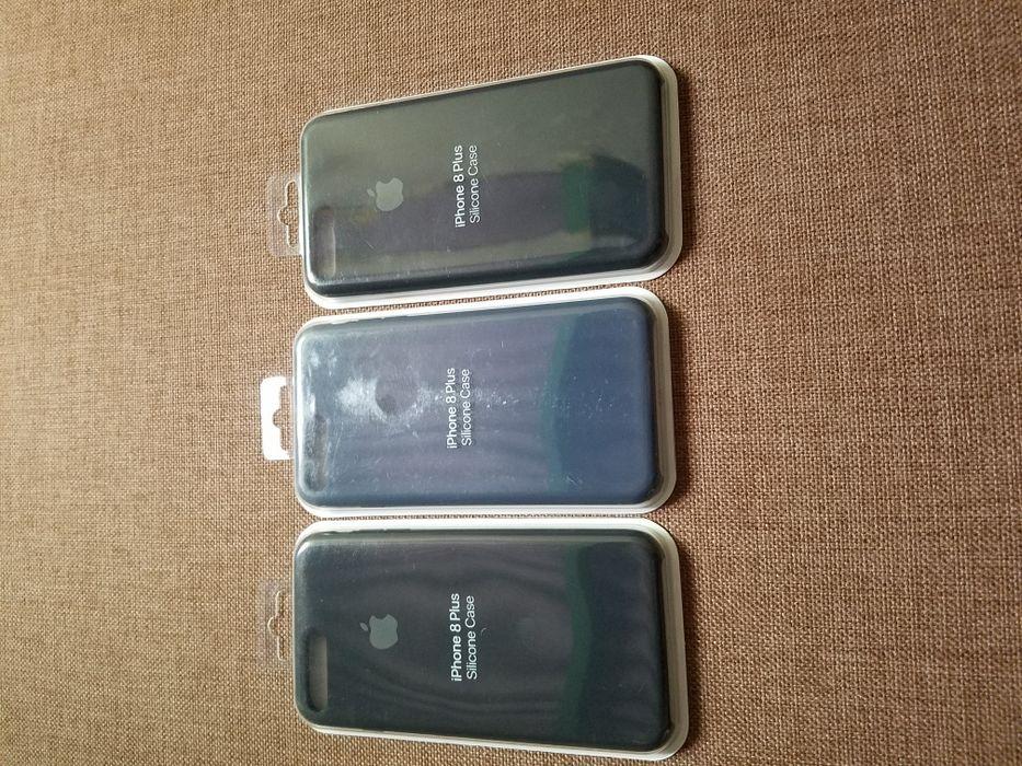 Capas de silicone iPhone 7/8 Plus pretas e azul escuro