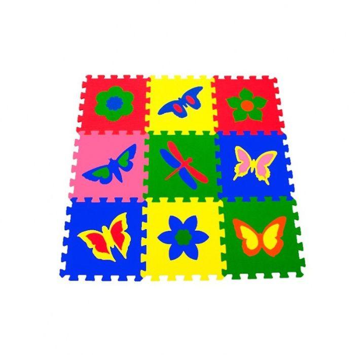 Детский коврик-пазл, мягкий универсальный 33*33 (Бабочки)