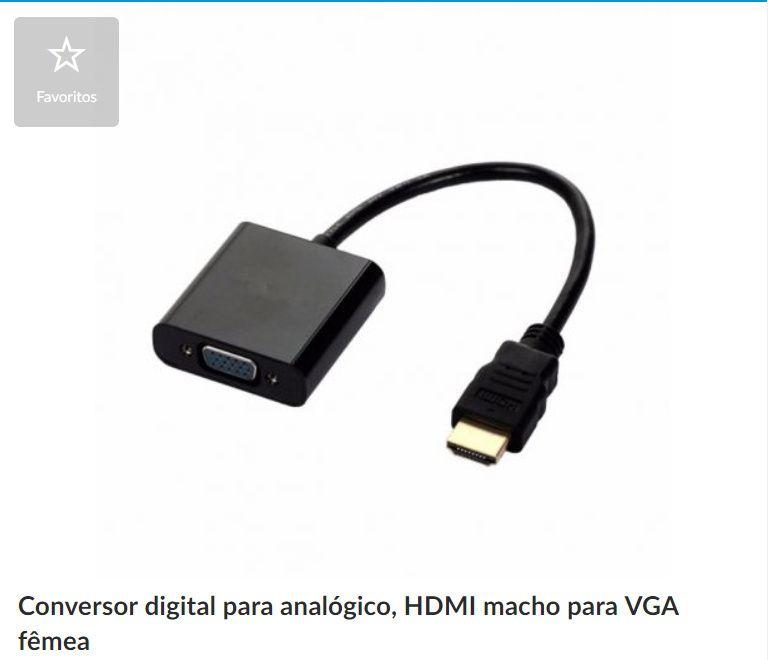 Adaptador HDMI/VGA