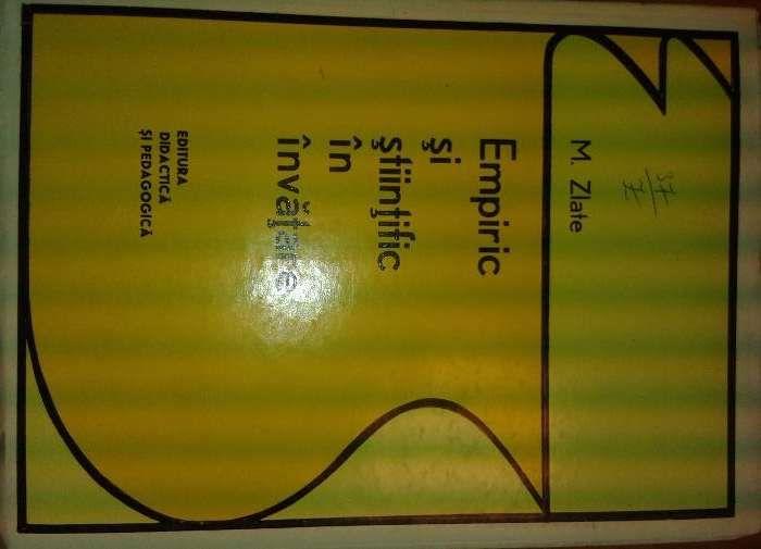Empiric si stiintific in invatare M Zlate EDP1973 280pag