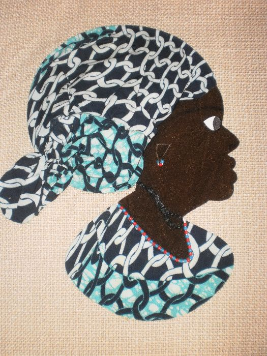 Африканка-картина от текстил върху текстил-варианти гр. София - image 10