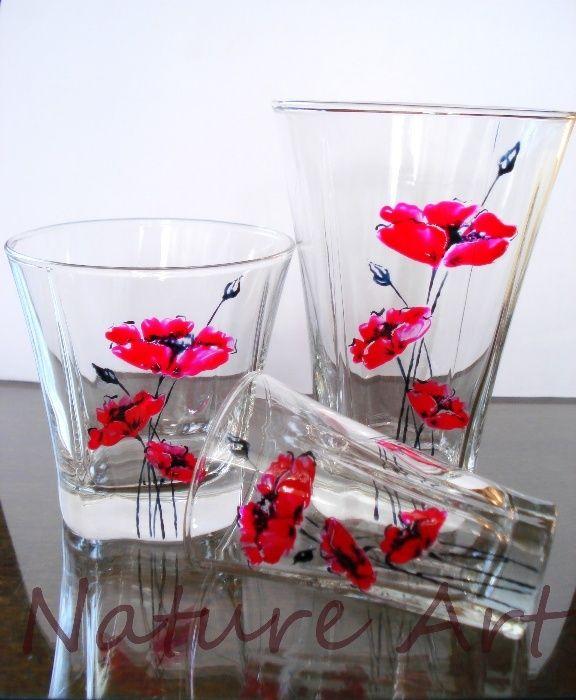 Комплект стъклени чаши - 6 или 18 части, в наличност