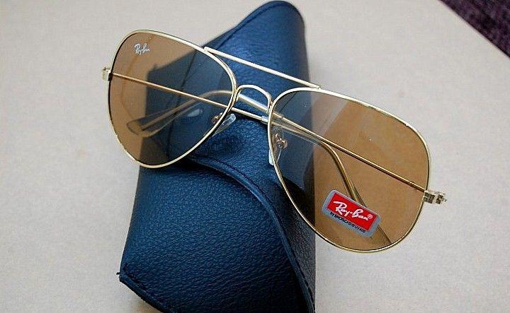Ochelari Ray Ban Aviator RB3025 Gold||Lentila Sticla||