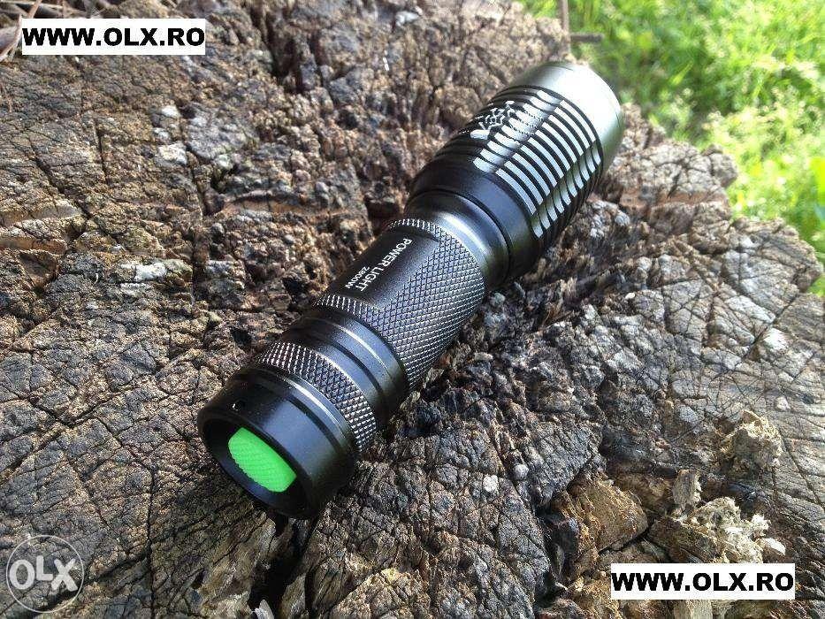 Lanterna POWER LIGHT MX-T03 cu Led CREE XML-T6 si Mega ZOOM Pachet NOU