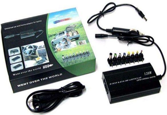 Автомобильный адаптер-зарядка-блок питания на разные ноутбуки и для к