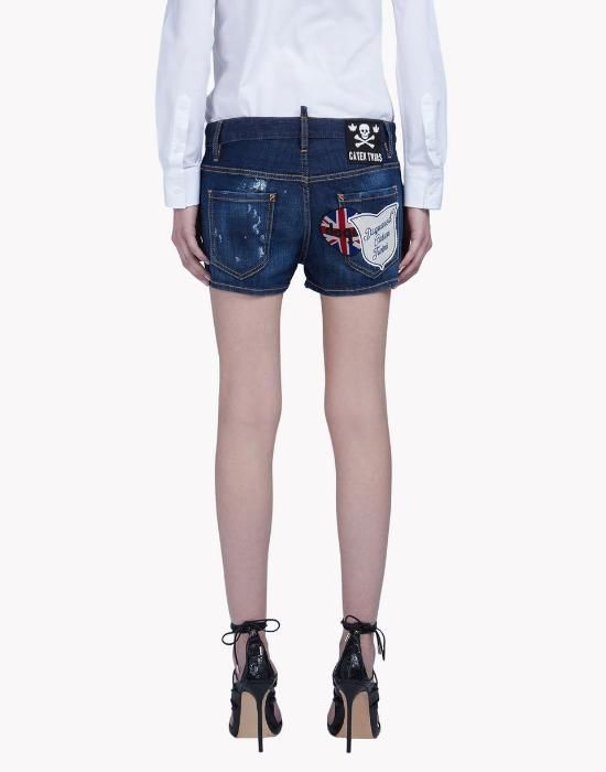 DSQUARED2 Patch Mini Shorts - Femei scurte blugi SALE