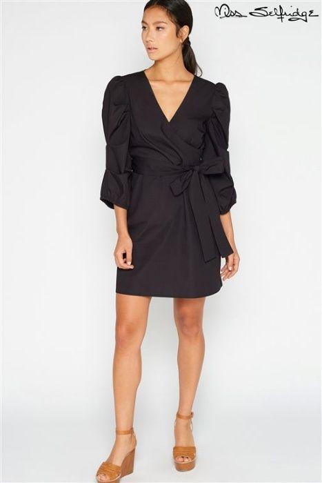Мiss selfridge малка черна рокля размер М