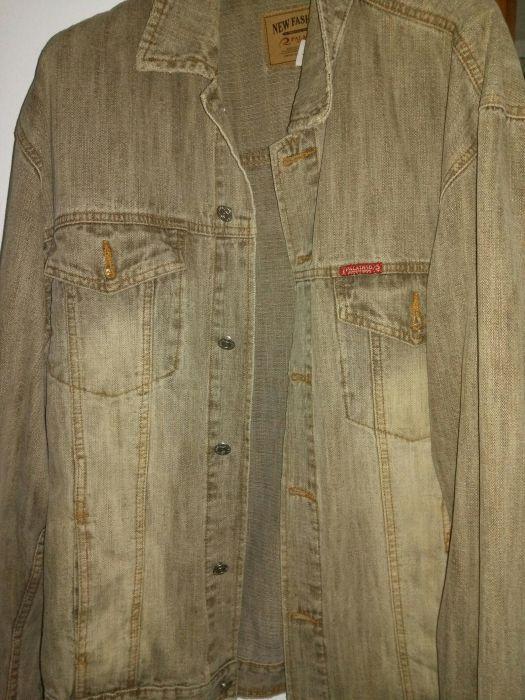 Geaca blugi jeans barbati originala Paladino maro-bej XL 46 48