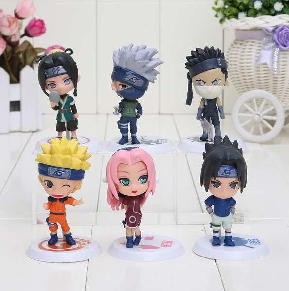Set figurina Naruto Sasuke Kakashi Sakura Zabuza