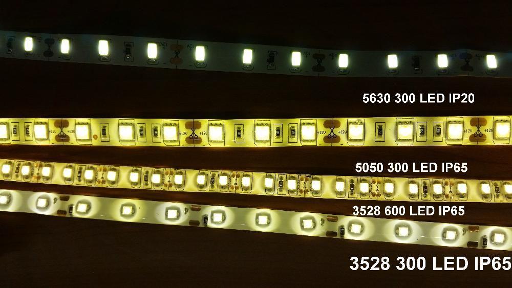 Banda LED 3528 5050 5630 alb rece/cald IP65/Waterproof/impermeabi