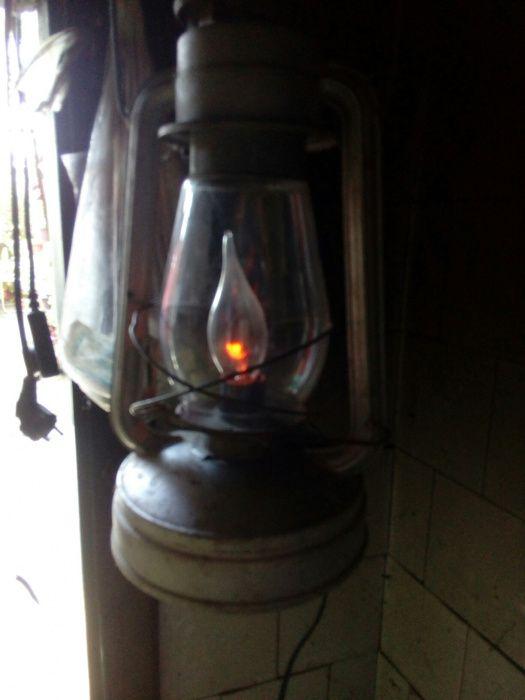 Ретро газов фенер с глим лампа