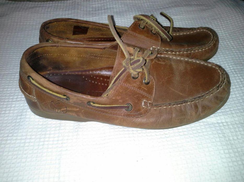 Pantofi de piele naturala barbatesti, maron , scarpi